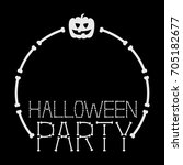 Halloween Party Frame Template...