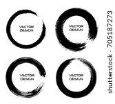 grunge circles. grunge round... | Shutterstock .eps vector #705187273