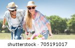 digital composite of couple on... | Shutterstock . vector #705191017