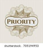 brown passport rossete with... | Shutterstock .eps vector #705194953