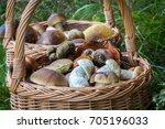 close up shot of wicker basket... | Shutterstock . vector #705196033