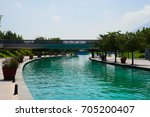 saint luca river walk in... | Shutterstock . vector #705200407
