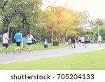 abstract blur focus of people... | Shutterstock . vector #705204133