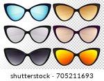 sunglasses set. trendy... | Shutterstock .eps vector #705211693