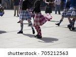 highland dancing | Shutterstock . vector #705212563
