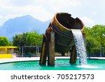 fundidora industrial park in... | Shutterstock . vector #705217573