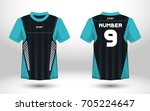 blue and black layout football... | Shutterstock .eps vector #705224647