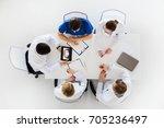 medicine  healthcare and oral... | Shutterstock . vector #705236497