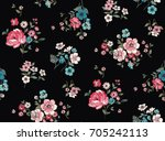 seamless trendy floral pattern... | Shutterstock .eps vector #705242113