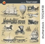 vector set of vintage... | Shutterstock .eps vector #70526938