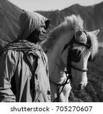 mount bromo indonesia august 13 ... | Shutterstock . vector #705270607