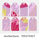 hand drawn creative tags.... | Shutterstock .eps vector #705274327