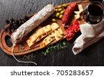 Italian Snacks On A Wooden...