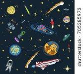 vector wallpaper pattern with... | Shutterstock .eps vector #705285973