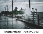 Small photo of Water coming over the streets in Kemah during Hurricane Harvey