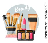 cosmetics for skincare and... | Shutterstock .eps vector #705309877