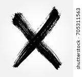 grunge letter x vector cross... | Shutterstock .eps vector #705311563