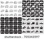 illustration on black and white ... | Shutterstock .eps vector #705343597