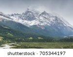 cerro torre mountain  fitz roy  ...   Shutterstock . vector #705344197