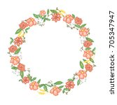 round floral frame in vector | Shutterstock .eps vector #705347947