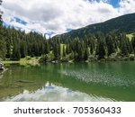 the mountain lake soinsee in... | Shutterstock . vector #705360433