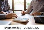 business colleagues team... | Shutterstock . vector #705380227