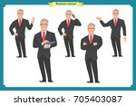 businessman character poses ... | Shutterstock .eps vector #705403087