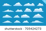 cloud set | Shutterstock .eps vector #705424273