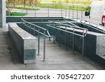 ramp for wheelchair entry with... | Shutterstock . vector #705427207