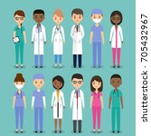 icons medical characters... | Shutterstock . vector #705432967