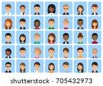 avatars men and women. icons... | Shutterstock . vector #705432973