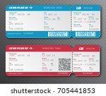 airline boarding pass ticket... | Shutterstock .eps vector #705441853