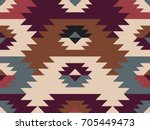 american prairie pattern.... | Shutterstock .eps vector #705449473