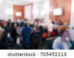 blurred people in the banquet... | Shutterstock . vector #705452113