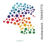 dotted texture kuwait vector... | Shutterstock .eps vector #705455773