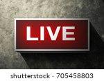 live labels broadcast on old... | Shutterstock . vector #705458803