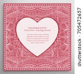invitation or card template... | Shutterstock .eps vector #705472657