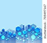 vector abstract futuristic...   Shutterstock .eps vector #705497167