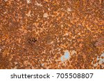 cracked paint on an old... | Shutterstock . vector #705508807