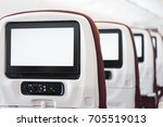 aircraft inflight entertainment ... | Shutterstock . vector #705519013