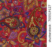 paisley. a pattern based on the ... | Shutterstock .eps vector #705519127