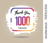 thank you design template for... | Shutterstock .eps vector #705521503