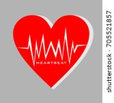 heart beat vector template... | Shutterstock .eps vector #705521857