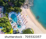 aerial view from the drone on...   Shutterstock . vector #705532357