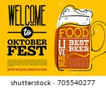 welcome to oktoberfest poster.... | Shutterstock .eps vector #705540277