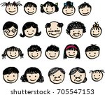 the face of a harmonious family.... | Shutterstock .eps vector #705547153