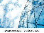 modern office building detail ... | Shutterstock . vector #705550423