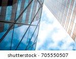 modern office building detail ... | Shutterstock . vector #705550507