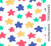 seamless pattern with ink drawn ... | Shutterstock .eps vector #705556663