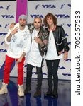 Small photo of LOS ANGELES - AUG 27: KEVI, Matthew Russell, Trevor Dahl, Cheat Codes at the MTV Video Music Awards 2017 at The Forum on August 27, 2017 in Inglewood, CA